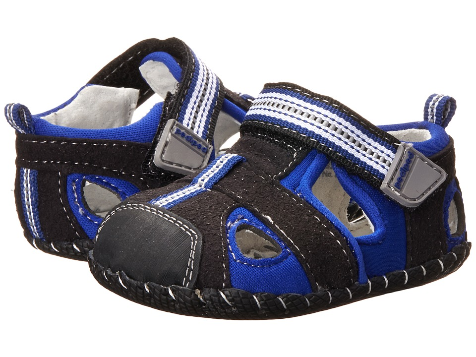 pediped - Sahara Originals (Infant) (Black/King Blue) Boy's Shoes