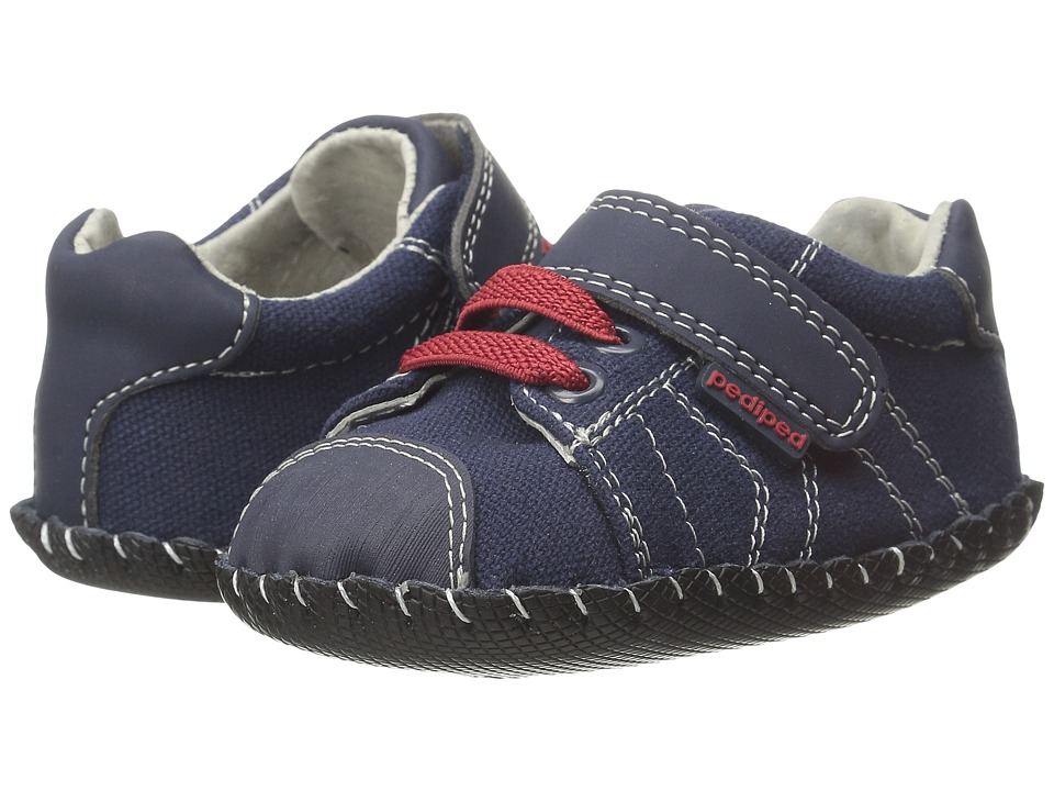pediped - Jake Originals (Infant) (Navy/Red) Boy's Shoes