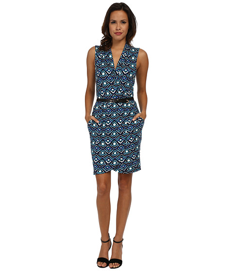 Tart - Phyllis Dress (Teal Diamond) Women's Dress