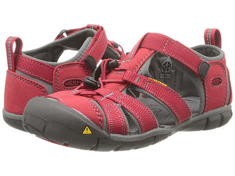 Keen Kids - Seacamp II CNX (Little Kid/Big Kid) (Chili Pepper/Gargoyle) Kids Shoes