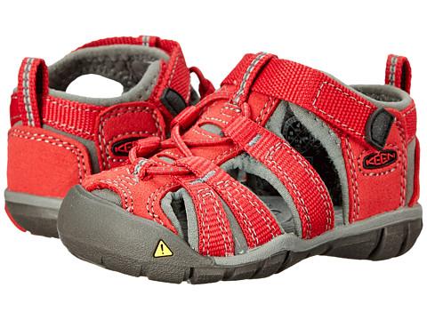 Keen Kids - Seacamp II CNX (Toddler) (Chili Pepper/Gargoyle) Kids Shoes