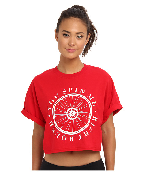 StyleStalker - You Spin Me Crop Top (Red) Women