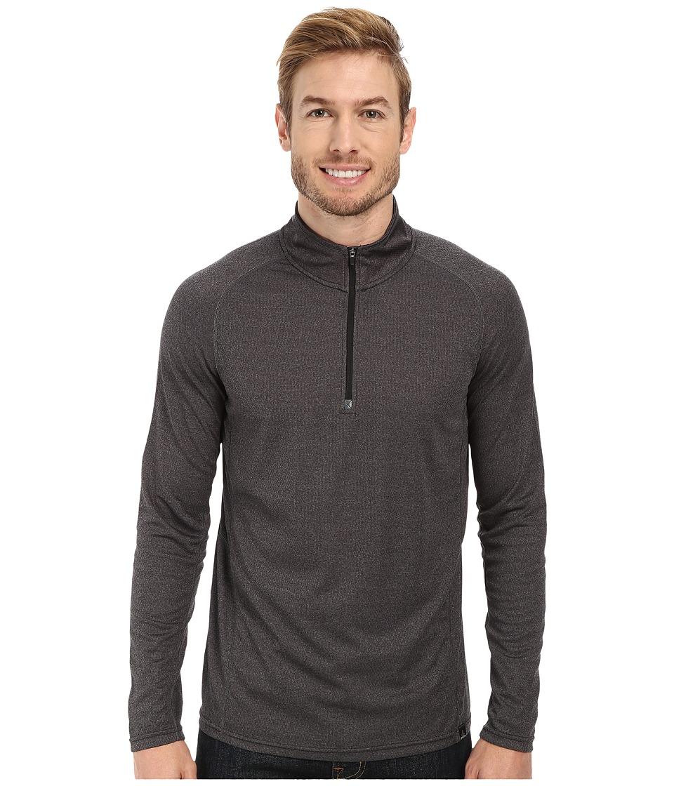 Prana - Orion 1/4 Zip (Charcoal) Men's Sweater