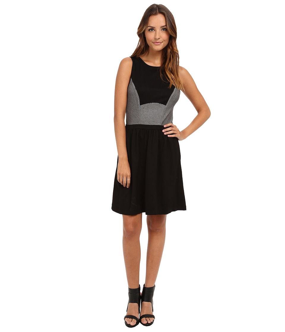 Tart - Collin Dress (Black/Char Ponte Ottoman) Women's Dress