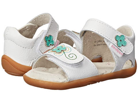 pediped - Leana Grip 'n' Go (Infant/Toddler) (White Multi) Girls Shoes