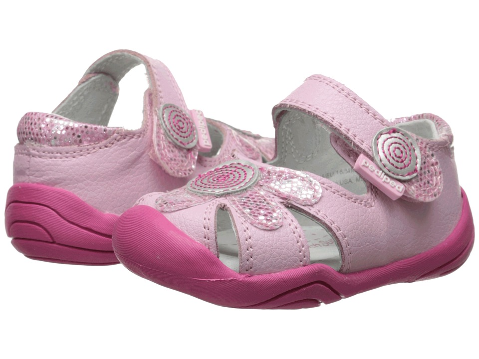 pediped - Daisy Grip 'n' Go (Infant/Toddler) (Astor Pink) Girl's Shoes