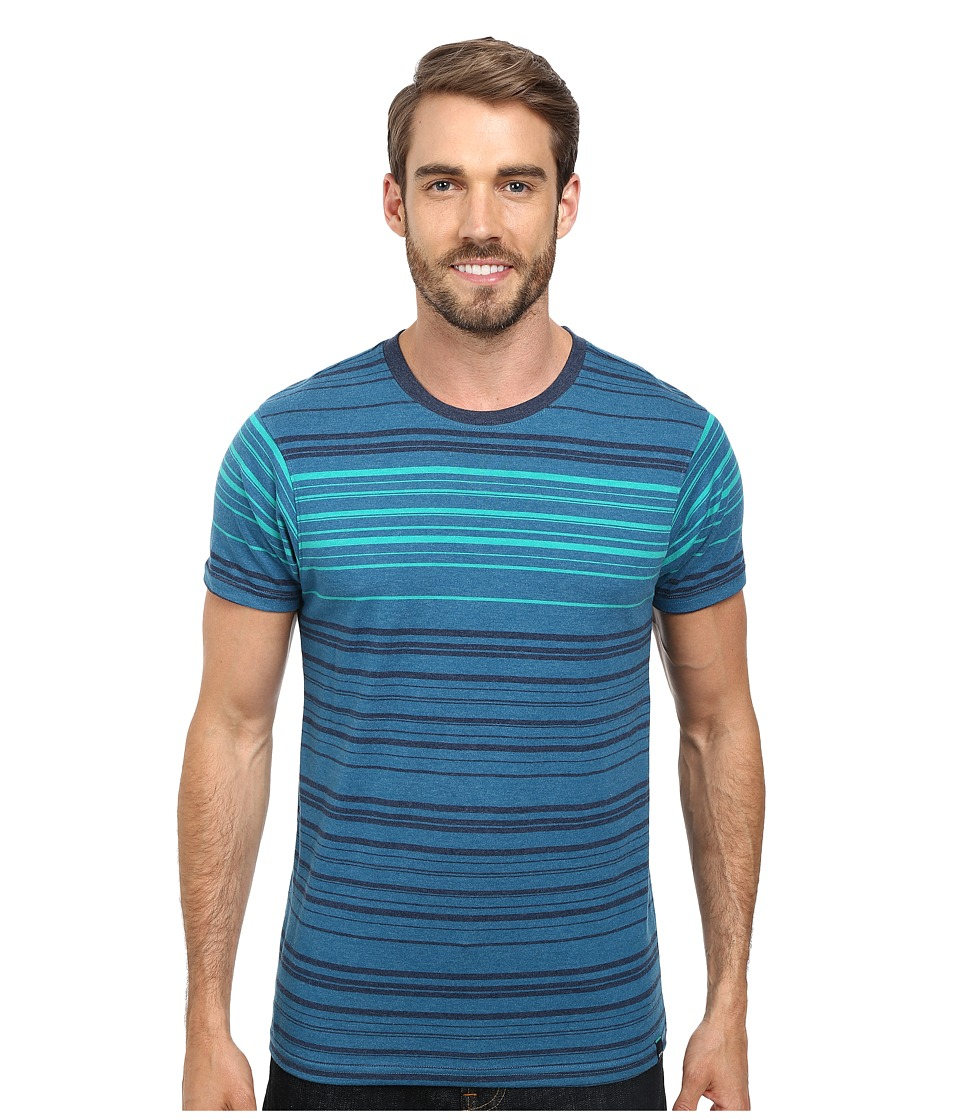 Prana - Throttle Crew (Blue Jean) Men's T Shirt