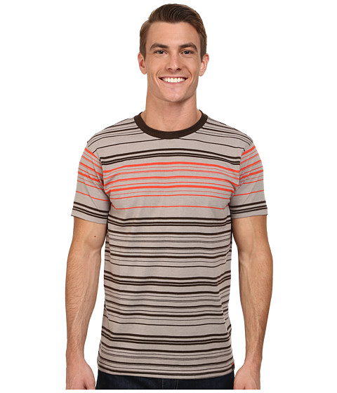 Prana - Throttle Crew (Earth Grey) Men's T Shirt