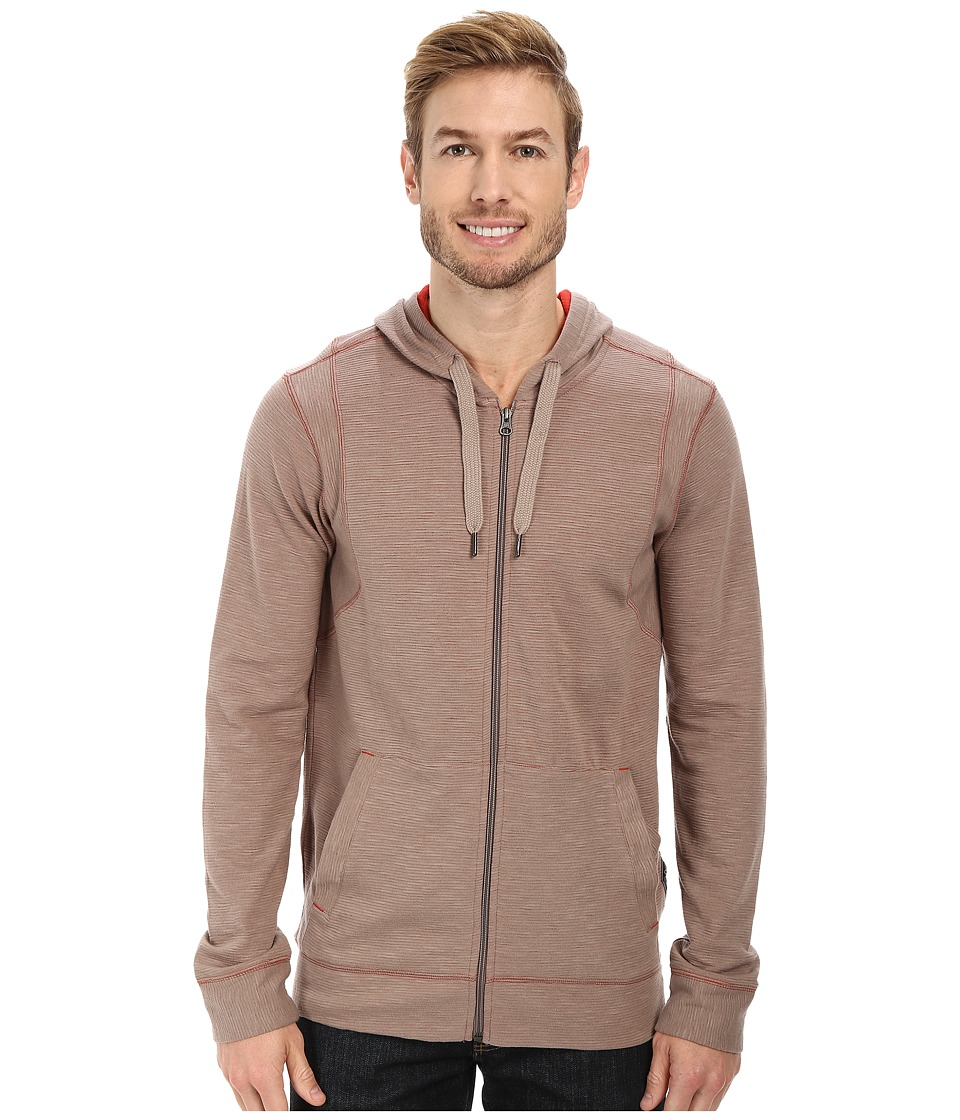 Prana - Barringer Hoodie (Earth Grey) Men's Sweatshirt