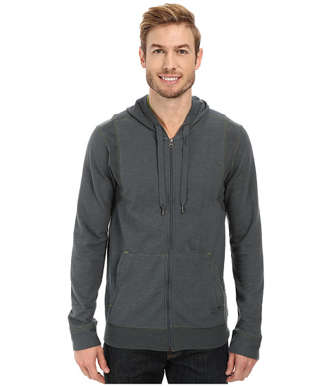 Prana - Barringer Hoodie (Grey Blue) Men's Long Sleeve Pullover