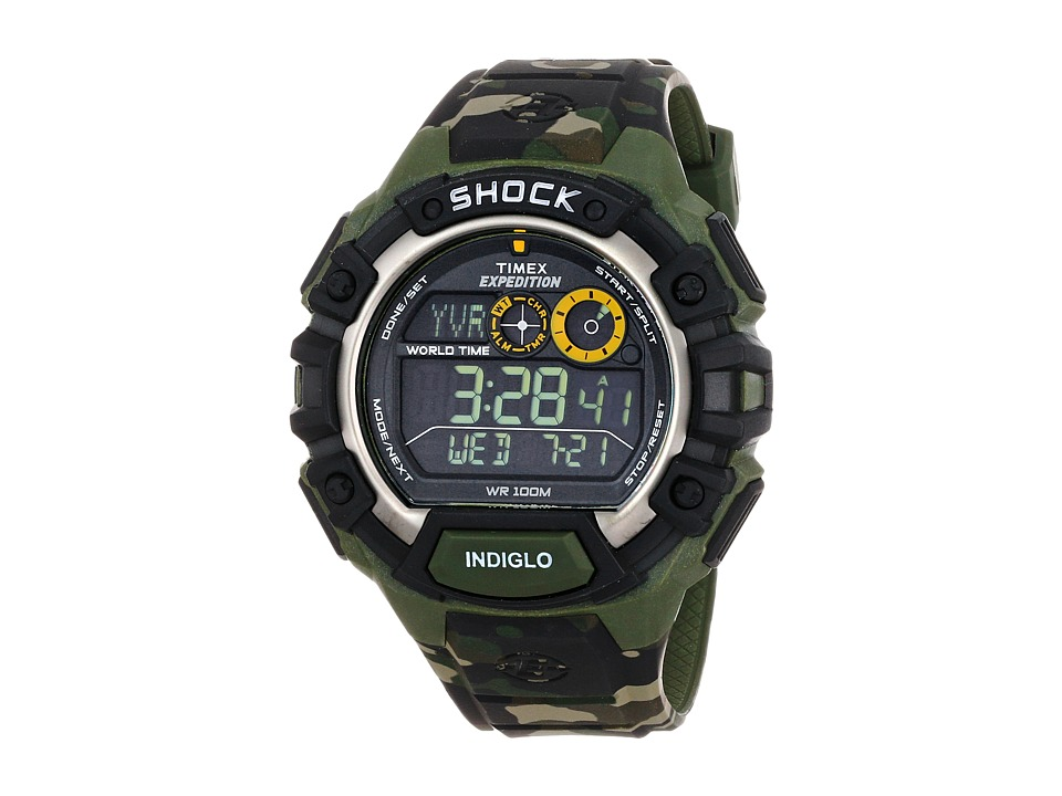 Timex - Expedition Global Shock Watch (Black/Green Camo) Watches