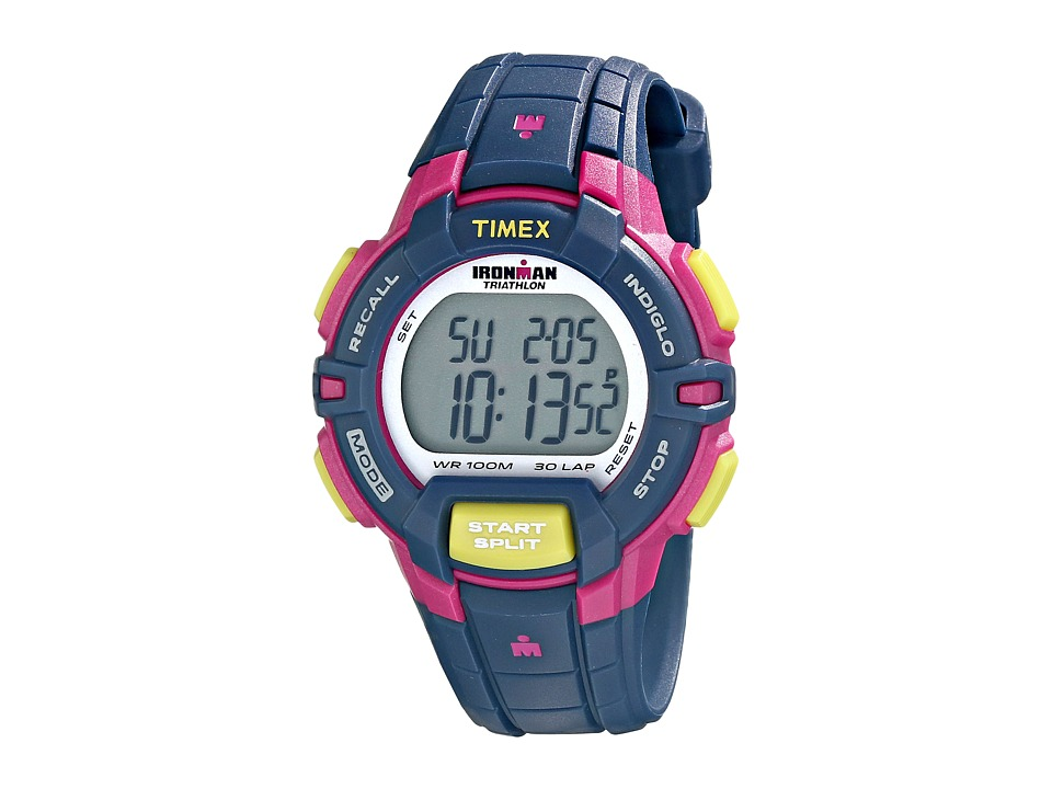 Timex - Ironman Rugged 30 Mid Size Watch (Blue/Pink/Green) Watches