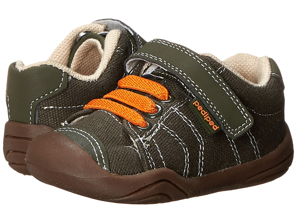 pediped - Jake Grip 'n' Go (Infant/Toddler) (Olive/Orange) Boy's Shoes