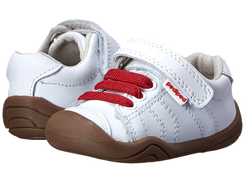 pediped - Jake Grip 'n' Go (Infant/Toddler) (White/Red) Boy's Shoes