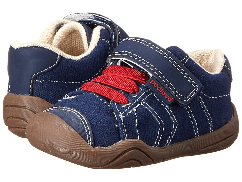 pediped - Jake Grip 'n' Go (Infant/Toddler) (Navy/Red) Boy's Shoes