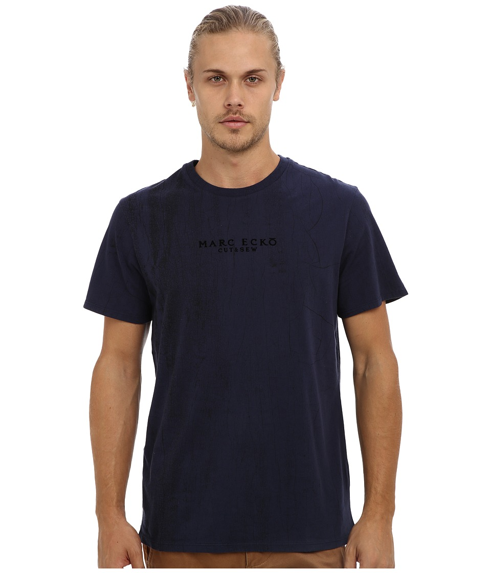 Marc Ecko Cut & Sew - Crackalack Crew (Navy) Men's Short Sleeve Pullover