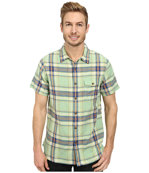 Woolrich - Dobby Plaid S/S Shirt (Sprout) Men's Short Sleeve Button Up