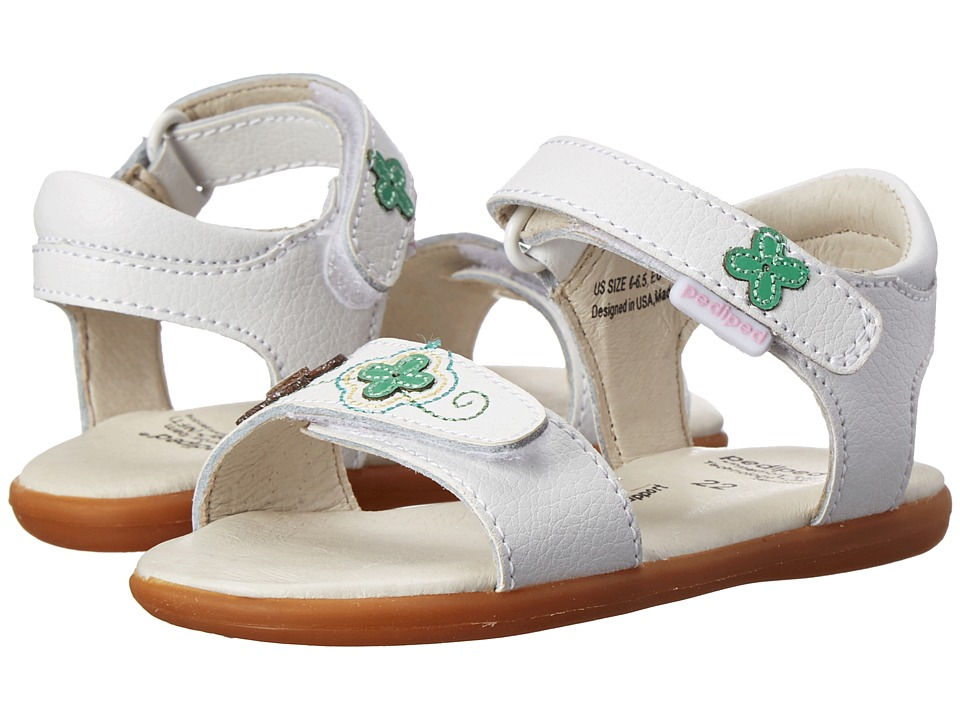 pediped - Leana Flex (Toddler/Little Kid) (White Multi) Girl's Shoes