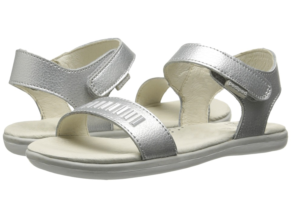 pediped - Lisa Flex (Little Kid/Big Kid) (Silver) Girl's Shoes