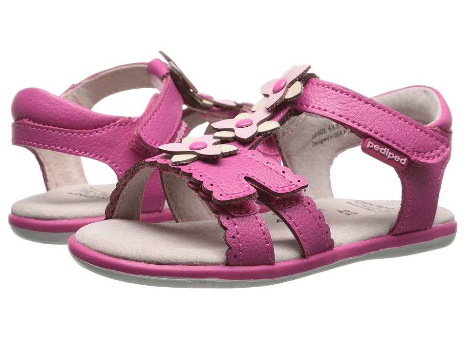 pediped - Sidra Flex (Toddler/Little Kid) (Fuchsia) Girl's Shoes
