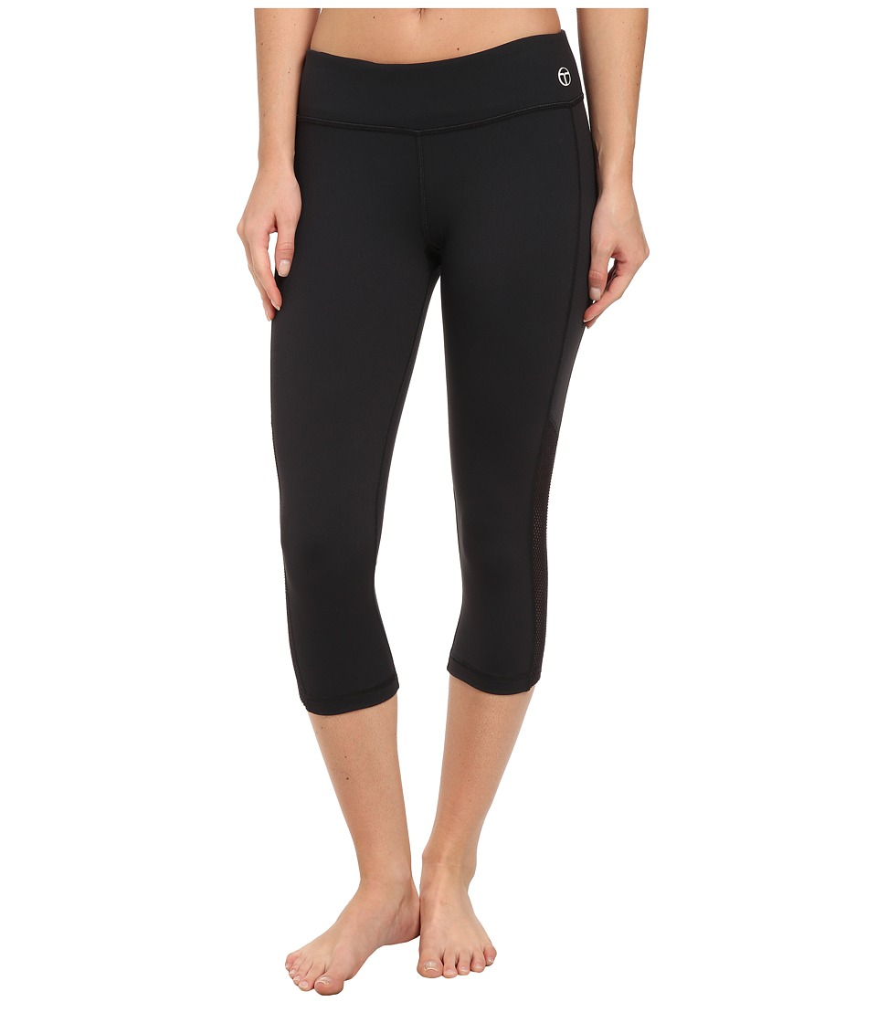 Trina Turk - Active Mesh Solids Mid-Length Legging (Black) Women's Workout
