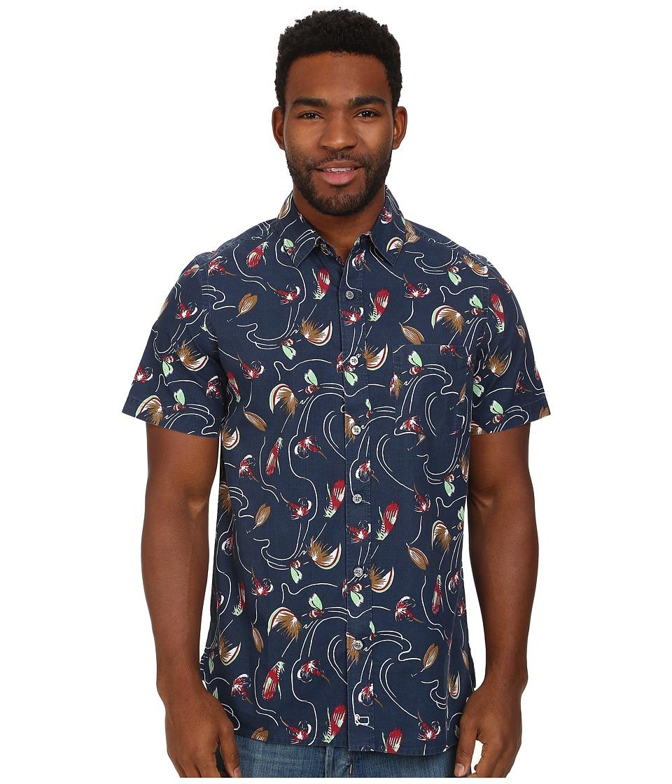 Woolrich - Printed Ripstop S/S Shirt (Deep Blue Sea) Men