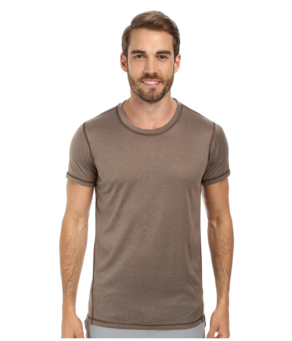Prana - Crux Crew (Mud) Men's T Shirt