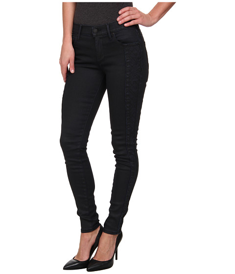 True Religion - Halle Mid Rise Super Skinny in Coated Night (Coated Night) Women's Jeans