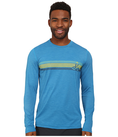 Prana - Calder L/S (Danube Blue) Men's Long Sleeve Pullover
