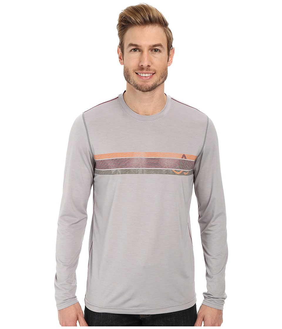 Prana - Calder L/S (Light Grey) Men's Long Sleeve Pullover