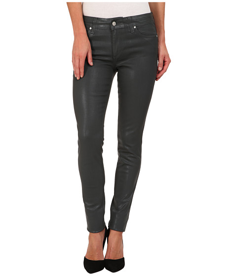 Joe's Jeans - Mid Rise Skinny in Coated Colors (Grey Skies) Women's Jeans
