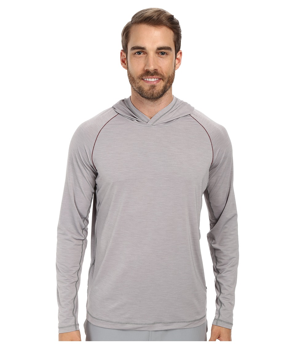 Prana - Calder Hoodie L/S (Light Grey) Men's Long Sleeve Pullover