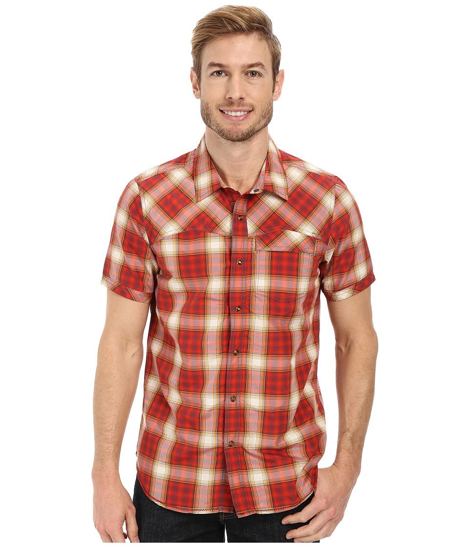 Prana - Benson Slim (Crimson) Men's Short Sleeve Button Up