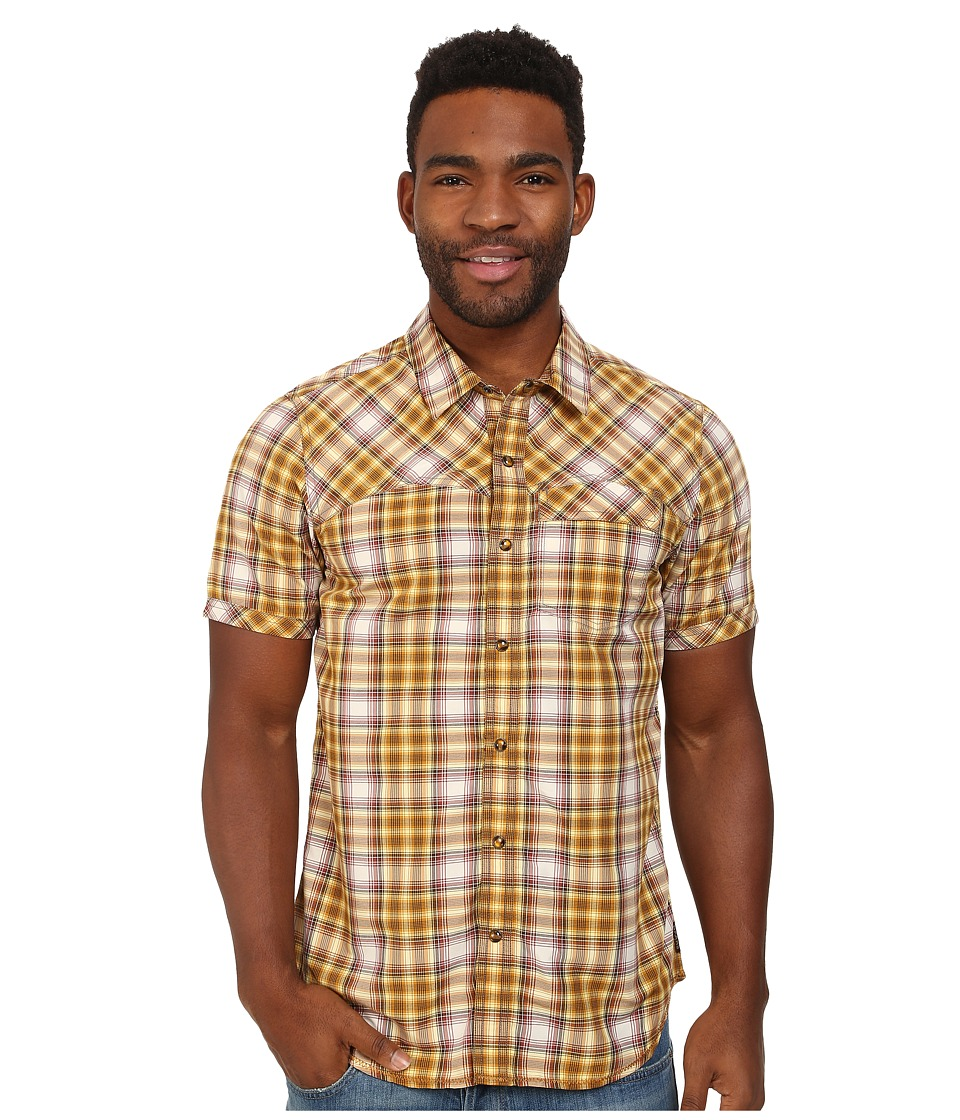 Prana - Benson Slim (Yellow) Men's Short Sleeve Button Up