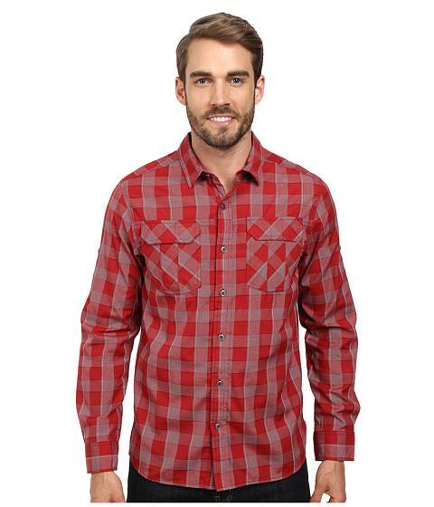 Prana - Terrain L/S (Crimson) Men's Long Sleeve Button Up