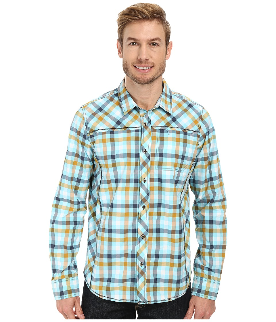 Prana - Zeven (Dusty Blue) Men's Long Sleeve Button Up