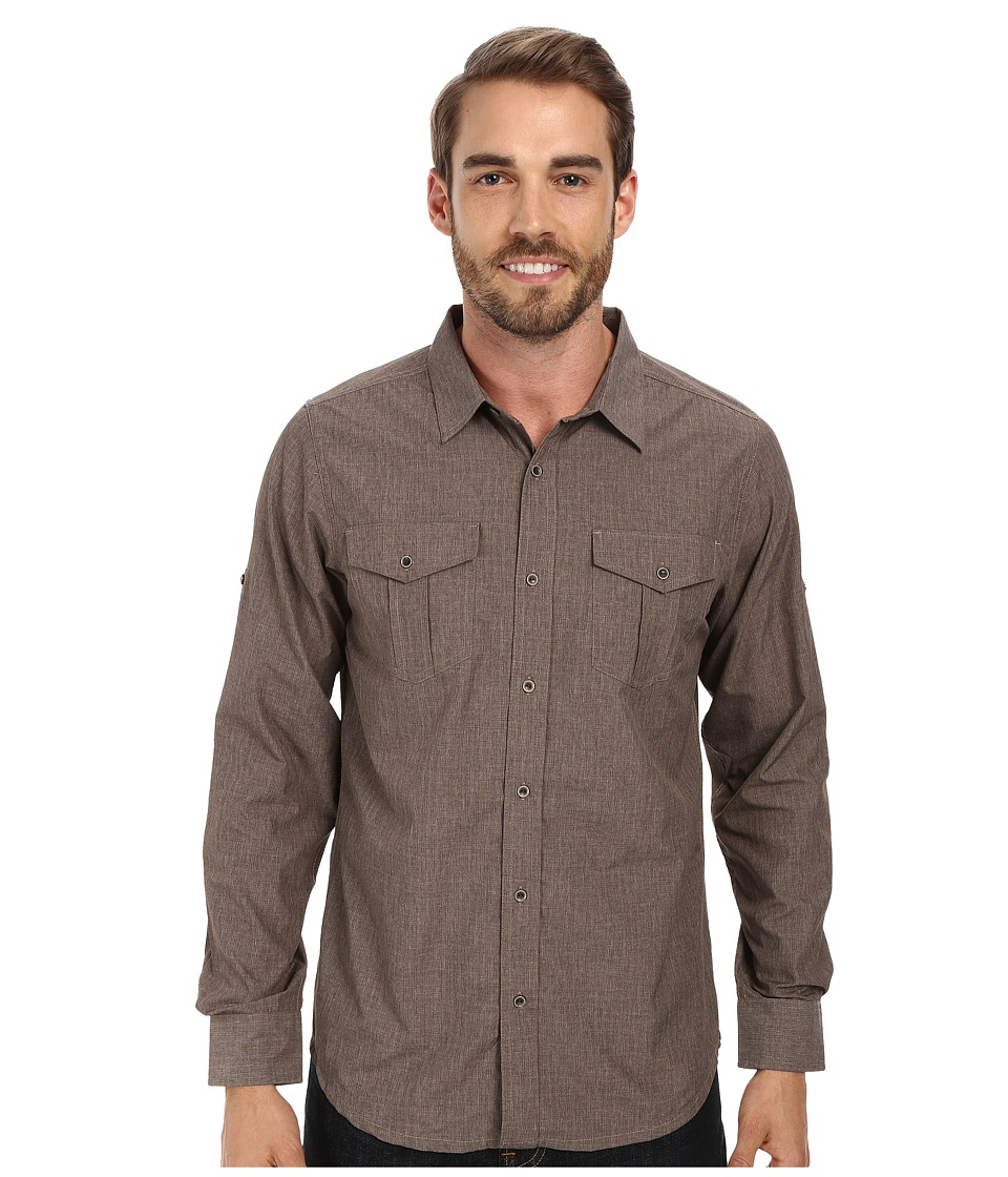 Prana - Ascension (Mud) Men's Long Sleeve Button Up