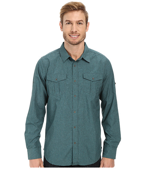 Prana - Ascension (True Teal) Men's Long Sleeve Button Up