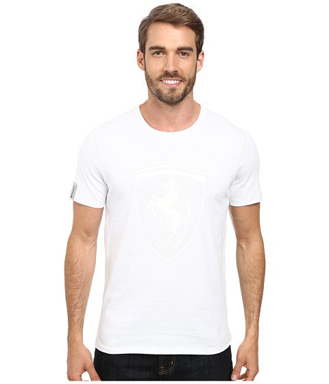 PUMA - Ferrari Shield Tee (White) Men's T Shirt
