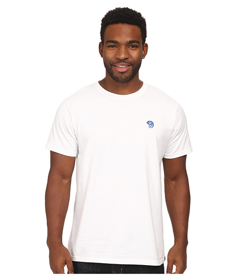 Mountain Hardwear - MHW Logo Short Sleeve T (White/Blue Jay) Men