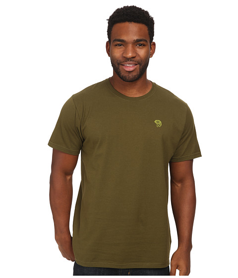 Mountain Hardwear - MHW Logo Short Sleeve T (Utility Green) Men