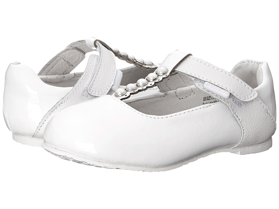 pediped - Victoria Flex (Toddler/Little Kid) (White) Girl's Shoes