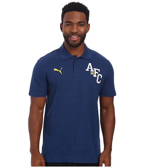 PUMA - AFC Fan Polo (Estate Blue) Men's Short Sleeve Pullover