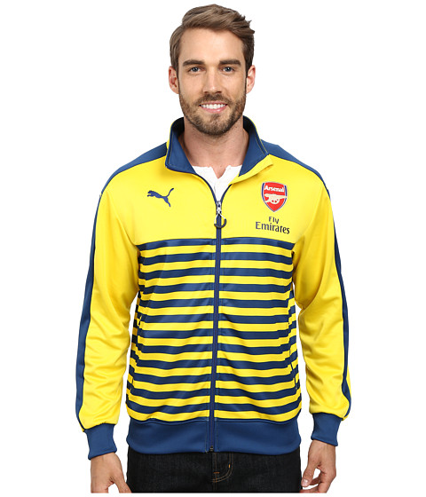 PUMA - AFC T7 Anthem Jacket with Sponsor (Estate Blue/Empire Yellow) Men