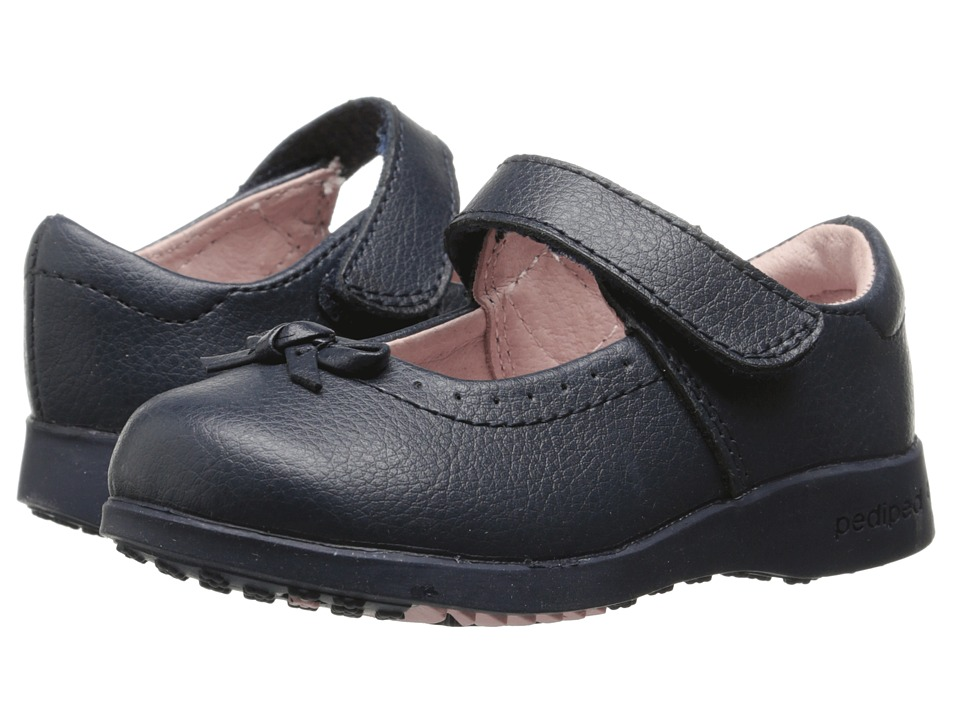 pediped - Isabella Flex (Toddler/Little Kid) (Navy) Girl's Shoes