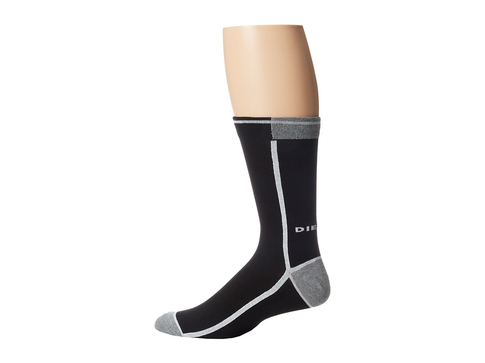 Diesel - Skm-Ray Sock (Black) Men's Crew Cut Socks Shoes