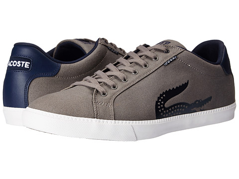 Lacoste - Grad Vulc TSP (Dark Grey/Dark Blue) Men's Shoes