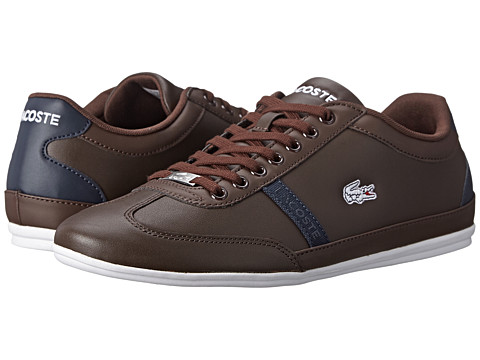 Lacoste - Misano Sport SCY (Dark Brown/Dark Blue) Men's Shoes
