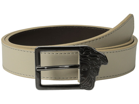 Versace Collection - Half Medusa Buckle Belt (Nude) Men's Belts