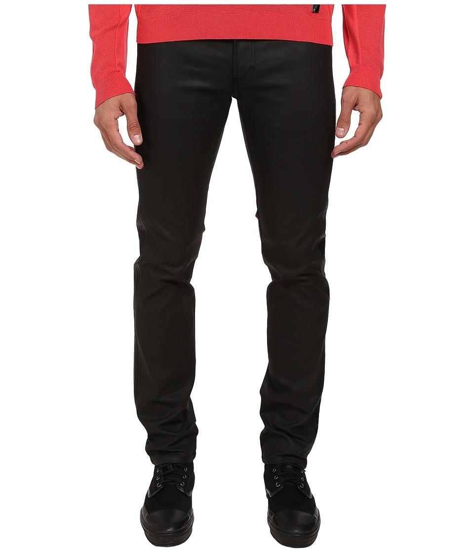 Versace Collection - Slim Fit Moto Jean (Navy) Men